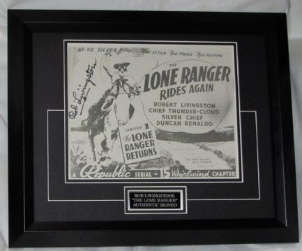 BOB LIVINGSTONE SIGNED THE LONE RANGER GUARANTEED AUTHENTIC AFTAL #199